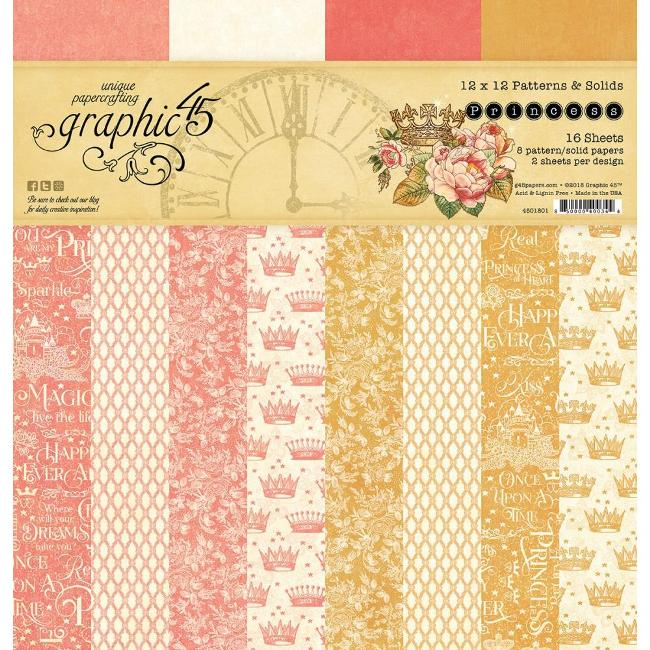 Graphic 45 Princess Patterns and Solid Pad
