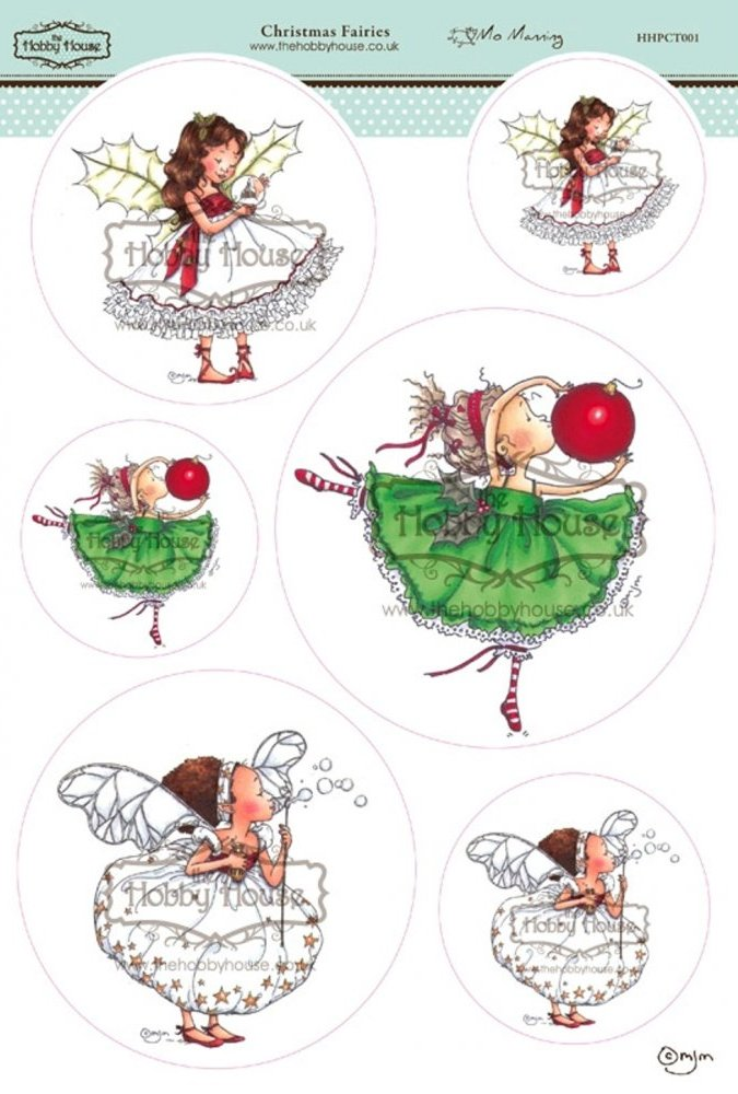 Christmas Fairies Card Toppers //Scrapbooking Embellishments//Card Making//Kids