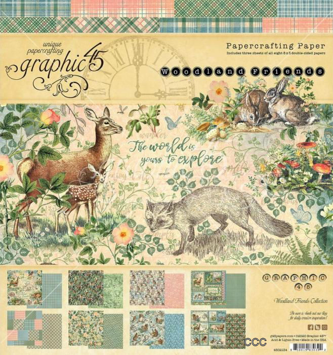 PRE-ORDER: Graphic 45 Woodland Friends 8