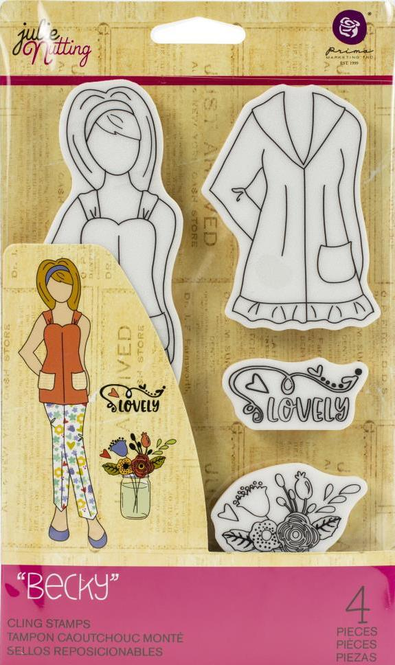 Prima Marketing Becky Cling Stamps (913007)