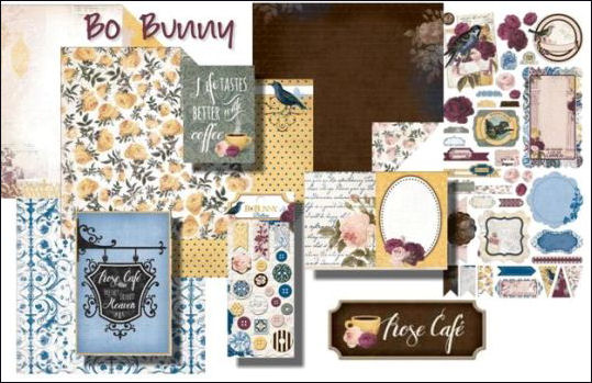 Bo Bunny Rose Cafe Collection