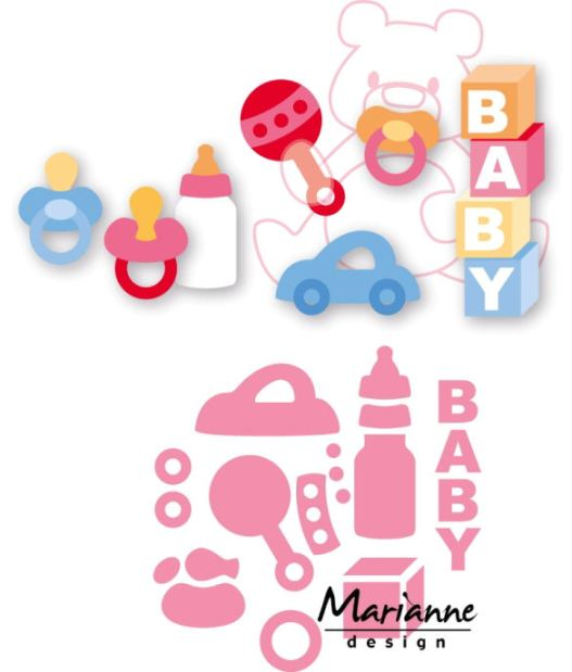 Marianne Design Collectable Dies - Eline's Baby Essentials (8 pieces) (COL1421)