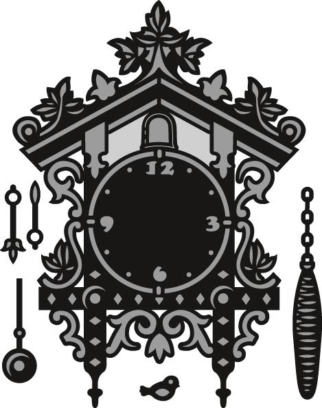 Grey Marianne Design Clock Craftable Die
