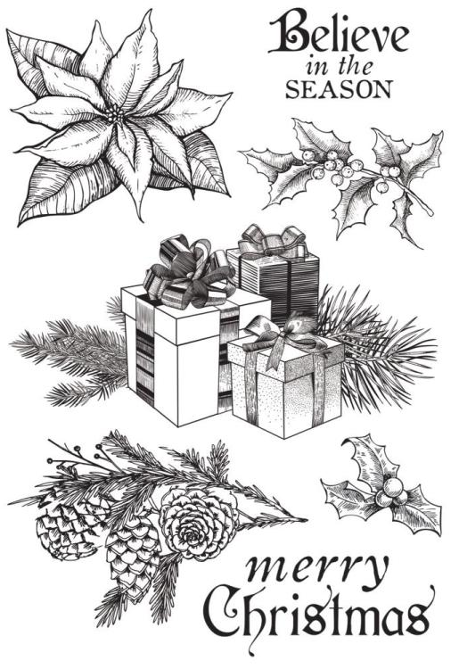 Kaisercraft Christmas Edition CLEAR STAMPS