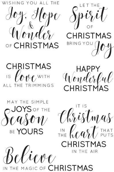 KaiserCraft Clear Stamps Mix /& Match Sentiments CS339 Traditional Christmas