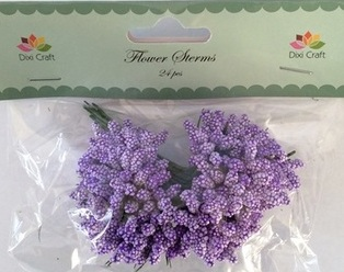 Dixi Craft Flower Stems (24 pcs) - PURPLE