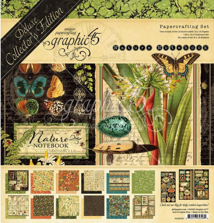PRE-ORDER: Graphic 45 NATURE NOTEBOOK DeLuxe Pack