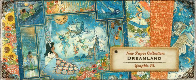 NEW  Graphic 45 Chipboard Die-Cut Dreamland