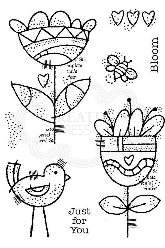 Woodware 3 x 8 Clear Cling Stamps FRS363 Creative Paintbrush