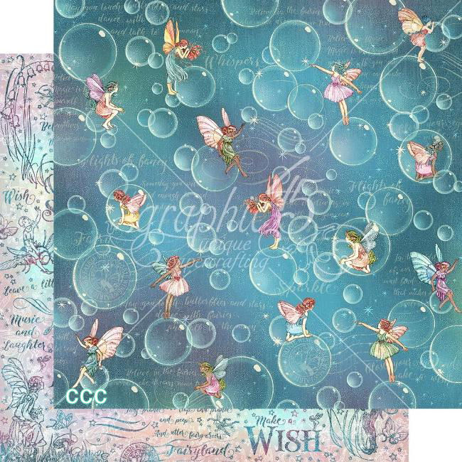 PRE-ORDER: Graphic 45 Fairie Wings Paper - BLOWING BUBBLES