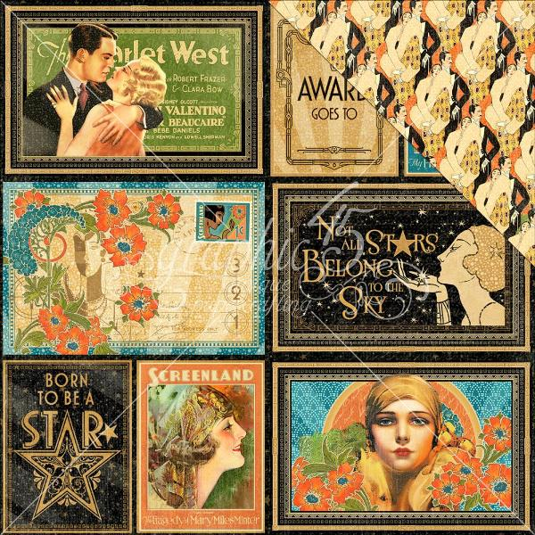 Graphic 45 ~ VINTAGE HOLLYWOOD ~ Stamp Set 2
