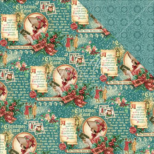 graphic 45 a christmas carol 8x8 paper pad