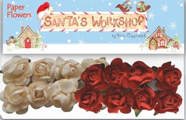 Helz Cuppleditch Santa's Workshop Paper Flowers