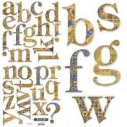 Basic Grey *HANG 10* Alphabet Chipboard Letters