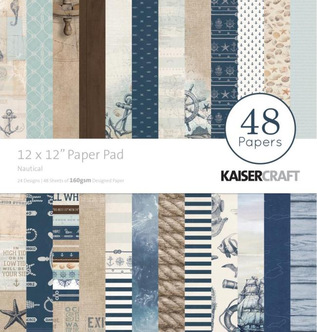 Kaisercraft NAUTICAL 12x12 Paper Pad