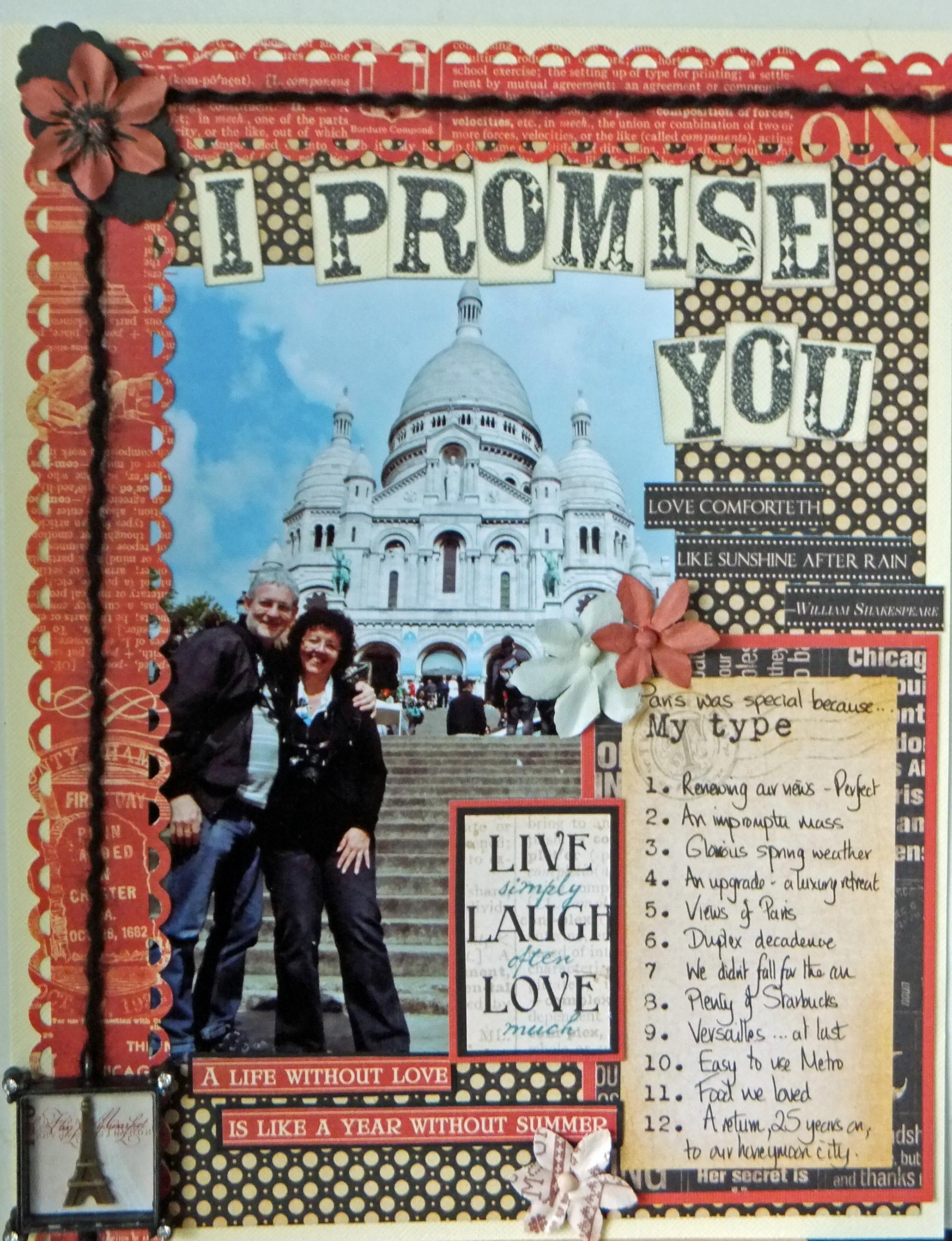 Scrapbook ideas without pictures - Sometimes A Page Evolves Because Of One Element You Want To Use In This Case I Was In Love With The Gorgeous Prima En Francais Vintage Metal Charm Of The