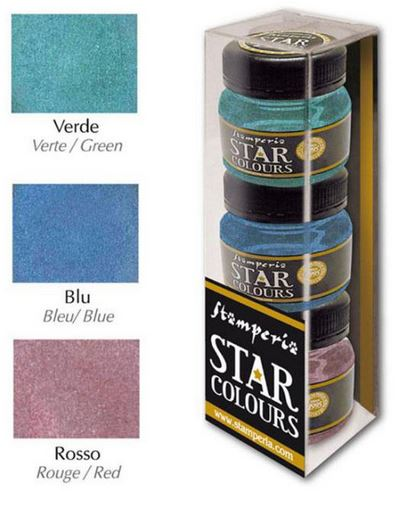 STAMPERIA  Star Color 3 colours package: Green-Blue-Red