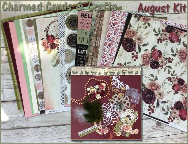 Charmed Cards & Crafts August'18 Kit - Gypsy Rose