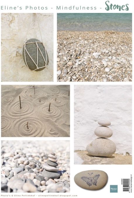 Marianne Design Cutting Sheet - Mindfulness - Stones