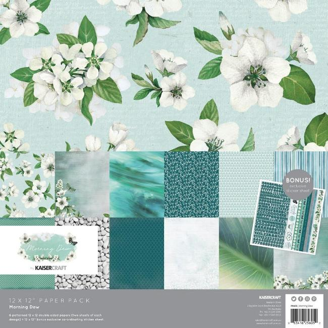 Kaisercraft Morning Dew Paper Pack (With Bonus Sticker Sheet)