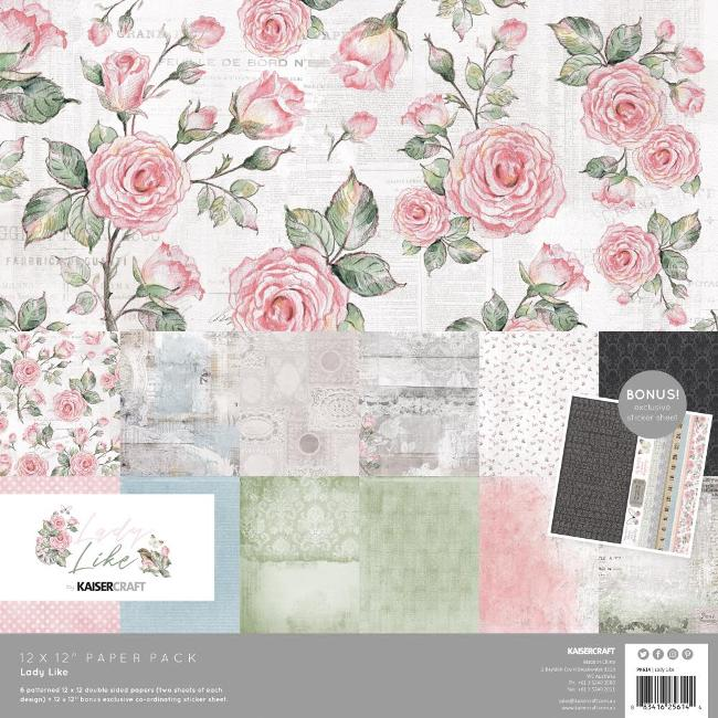 Kaisercraft Lady Like Paper Pack (With Bonus Sticker Sheet)