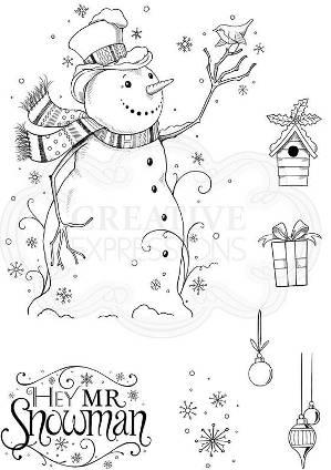 Pink Ink hey Mr Snowman set