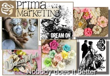 Prima Marketing Papers, Stamps, Flowers and lots lots more