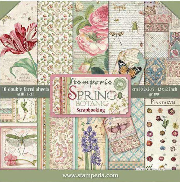 Stamperia Paper Pads 12 Quot X 12 Quot Spring Botanic