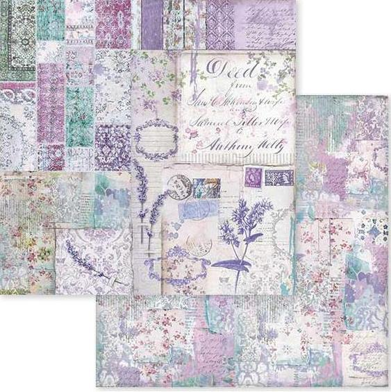 Stamperia Double Sided Paper Provence Patchwork Sbb595