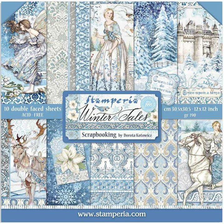 Stamperia 12x12 Paper Pack - WINTER TALES