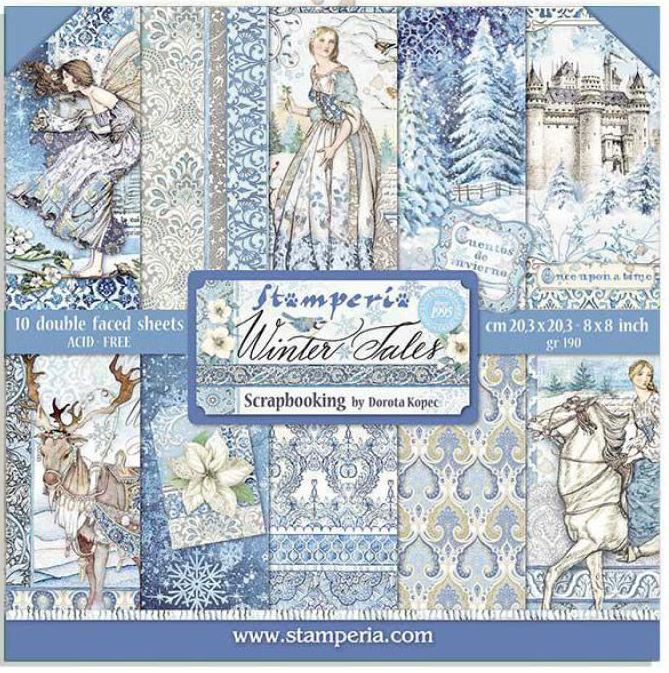 Stamperia 8x8 Paper Pack -  WINTER TALES