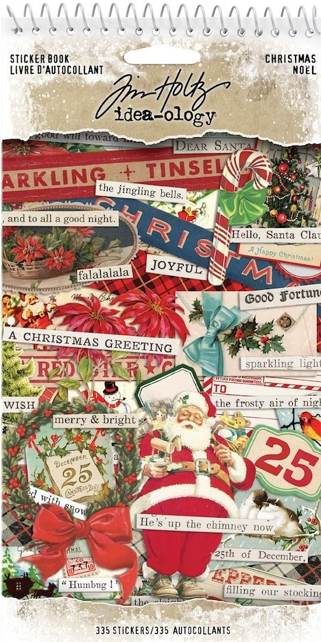 Tim Holtz Idea-Ology Sticker Book CHRISTMAS (TH93999)