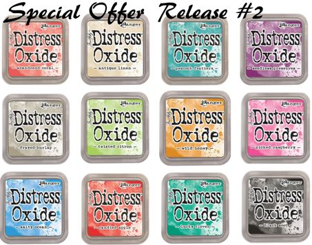 SPECIAL OFFER: Tim Holtz Oxide Distress Ink Pads - Release #2 Full Package