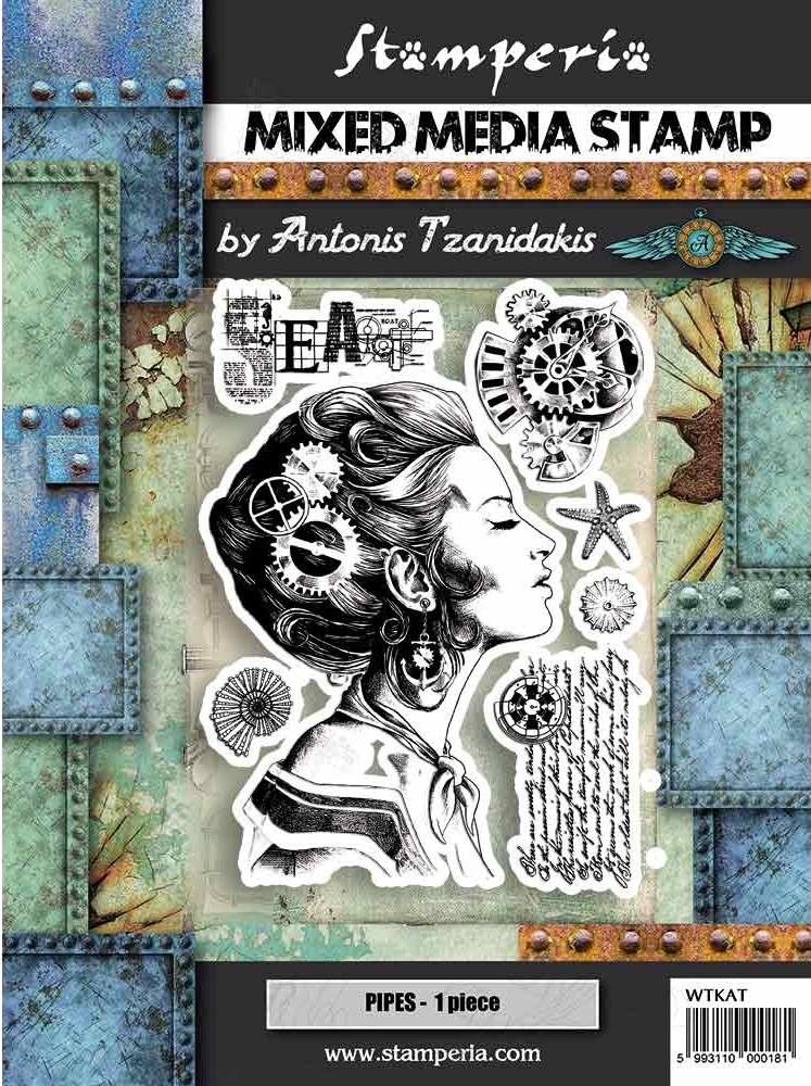 Stamperia Mixed Media Stamps -  Lady (WTKAT09)