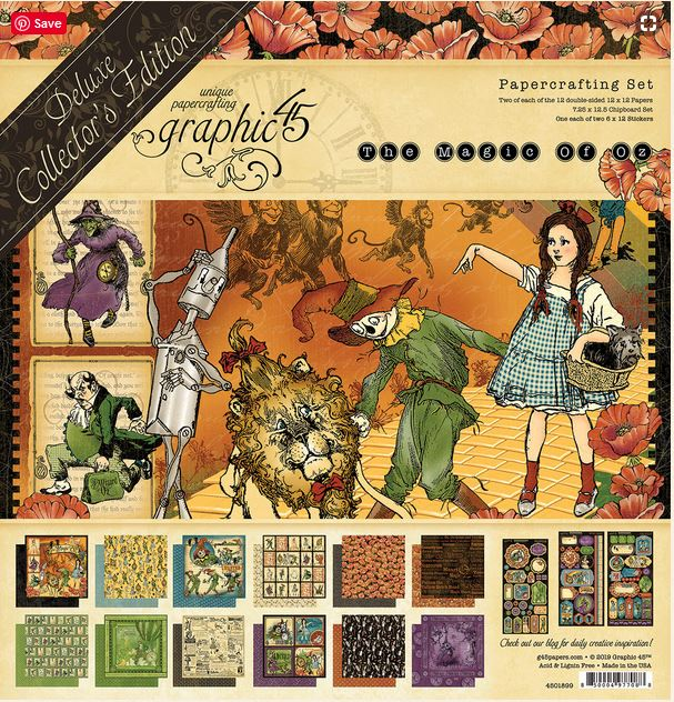 Graphic 45  Magic of Oz DeLuxe Collection Pack