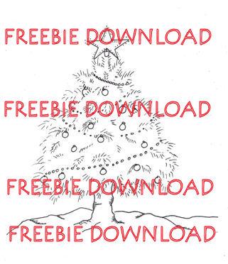 free christmas tree digital download - Free Digital Christmas Cards