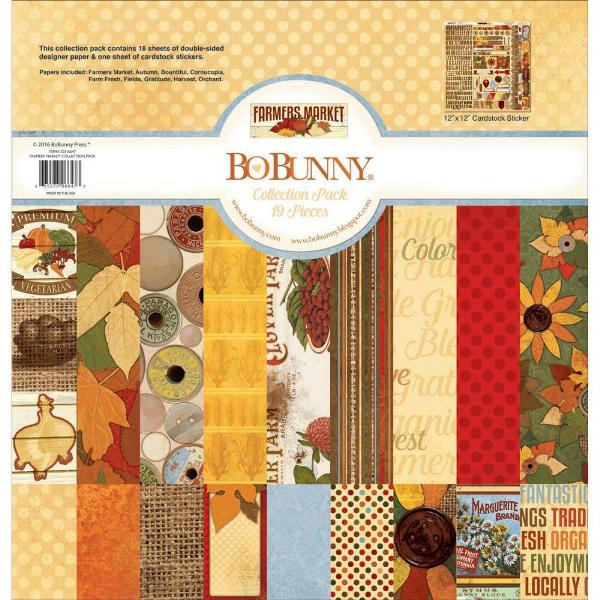 "BoBunny Press Souvenir Collection Pack 19 Pieces 12/"" x 12/"" Cardstock Sticker New"