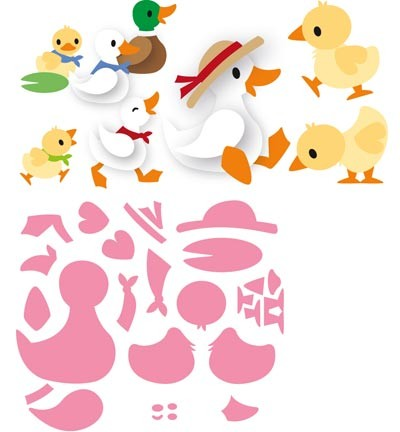 Marianne Design Collectables Craft Dies - Eline's Duck Family (COL1428)
