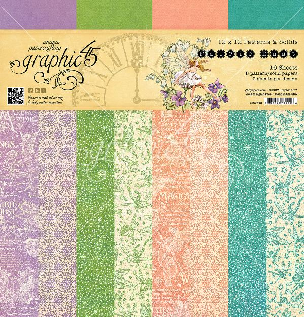 PRE-ORDER Graphic 45 Fairie Dust Patterns & Solid Pad