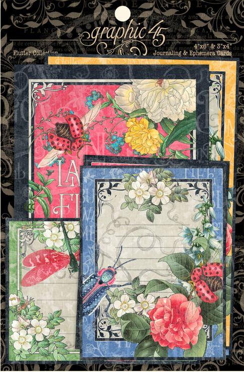 pre order graphic 45 flutter ephemera cards