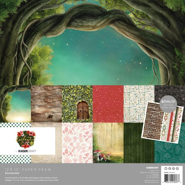 Kaisercraft Enchanted Paper Pack (With Bonus Sticker Sheet)