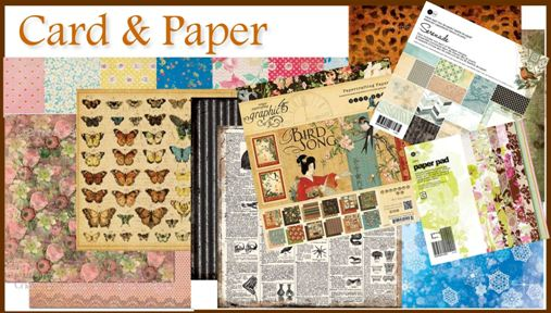 paper and card for card making and scrapbooking
