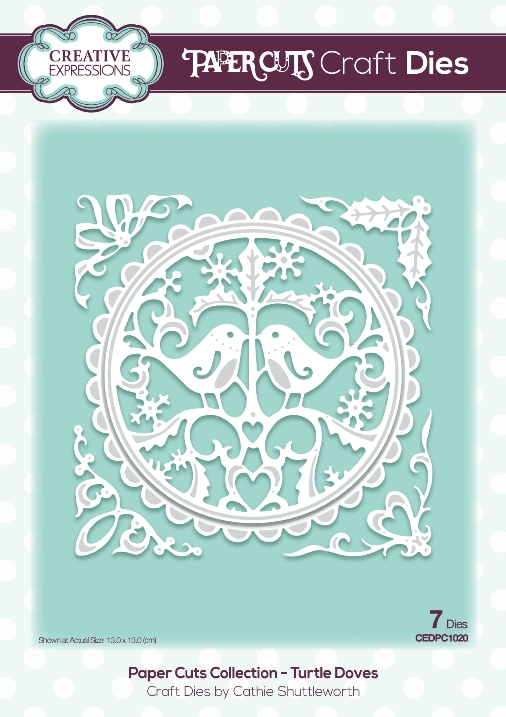 Paper Cuts Collection Turtle Doves Craft Die (PC1020)