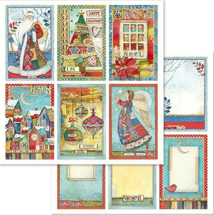 Stamperia Double-Sided Paper -  CHRISTMAS CARDS (SBBL636)