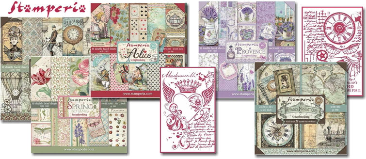 Stamperia January Paper Pad releases