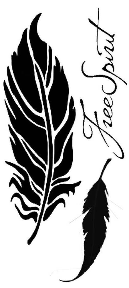 NEW Stamperia A5 Stencil Feather